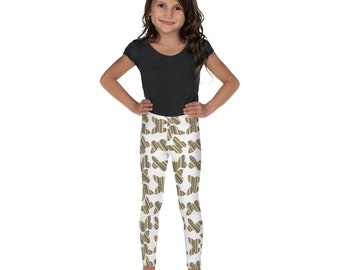 Southwest Striped Butterflies Kid's Leggings