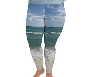 Beach All-Over Print Plus Size Leggings
