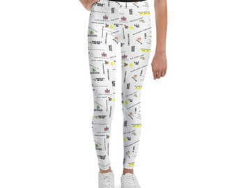 8 Bit Memories Youth Leggings