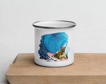 Make Waves Enamel Mug