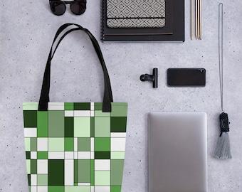 Mondrian Green Tote bag