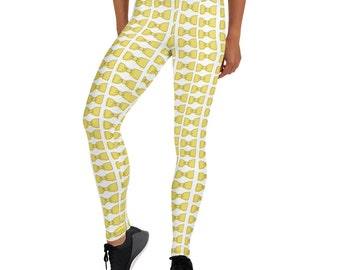 Yellow Bowties Leggings