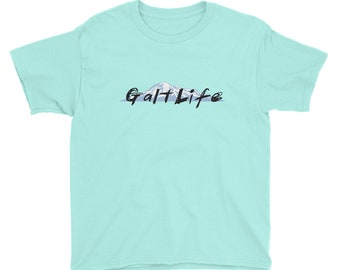 Galt Mountains (Full Front) Youth Short Sleeve T-Shirt