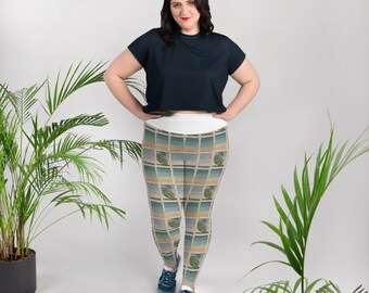 Out My Window All-Over Print Plus Size Leggings