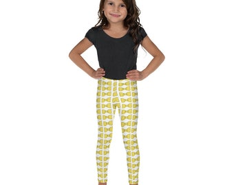 Yellow Bowties Kid's Leggings