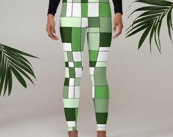 Mondrian Green Leggings