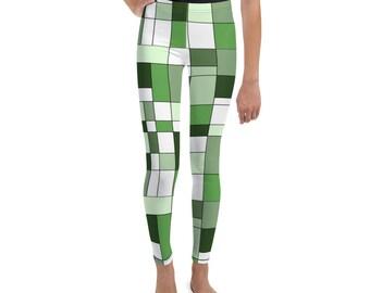Mondrian Green Youth Leggings