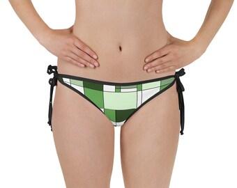 Mondrian Green Bikini Bottom