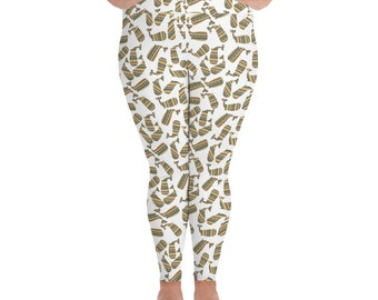Southwest Striped Whale All-Over Print Plus Size Leggings