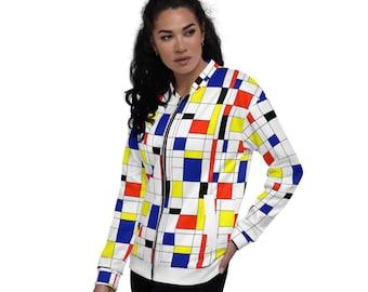 Mondrian Multi Unisex Bomber Jacket