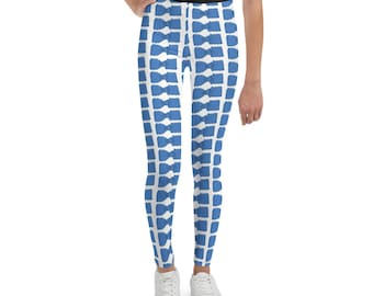 Blue Bowties Youth Leggings
