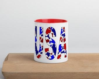 USA Camo Mug with Color Inside