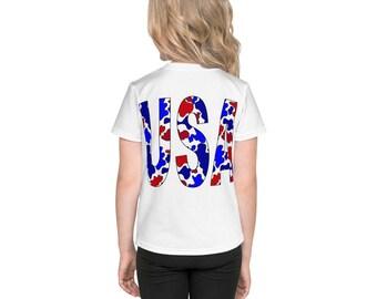 USA Camo Kids T-Shirt