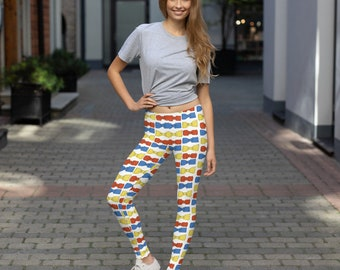 Multicolored Bowties Leggings