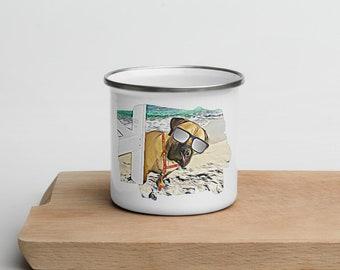 Life's a Beach Enamel Mug
