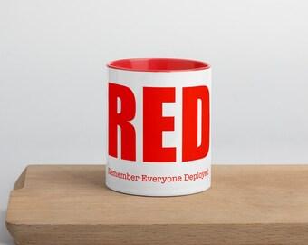 RED Mug with Color Inside