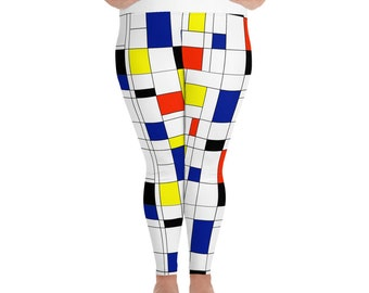 Mondrian Multi Plus Size Leggings