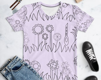 Purple Mechanical Garden Women's T-shirt