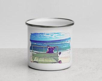 Beach you would Enamel Mug