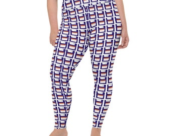 Disks All-Over Print Plus Size Leggings