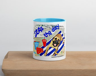 Seas the dat Mug with Color Inside