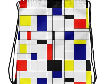 Mondrian Multi Drawstring bag