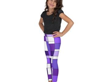 Mondrian Purple Kid's Leggings