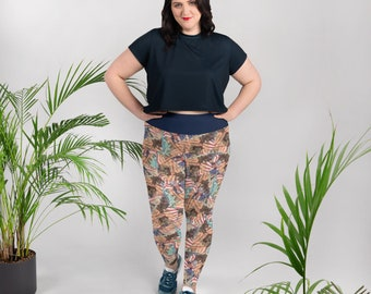 American Icons All-Over Print Plus Size Leggings