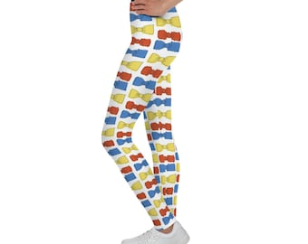 Multicolored Bowties Youth Leggings