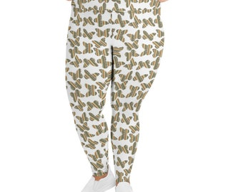 Southwest Striped Butterflies All-Over Print Plus Size Leggings