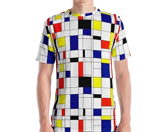 Mondrian Multi Men's T-shirt