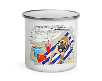 Seas the Day Enamel Mug