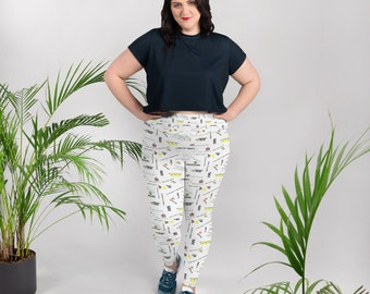 8 Bit Memories All-Over Print Plus Size Leggings