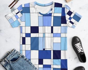 Geometric Blue Women's T-shirt