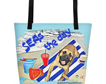 Seas the day Beach Bag