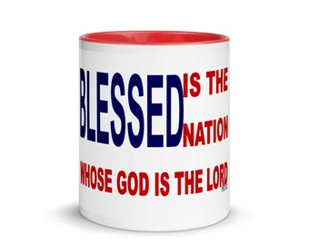 Blessed Mug with Color Inside