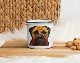 Bullmastiff Enamel Mug