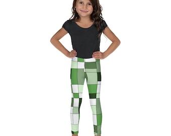 Mondrian Green Kid's Leggings