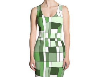 Mondrian Green Dress