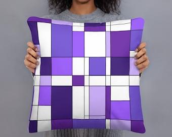 Mondrian Purple Basic Pillow