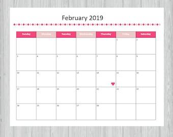 February Calendar Etsy
