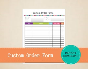 A5 Business Planner Custom Book  Business Stationery Order Forms Custom Order BookOrder TrackerBoss BabeSelf employed