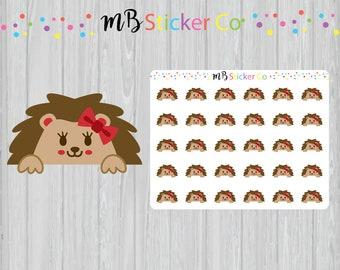 Hedgehog Peek a Boo Planner Stickers, Hedgehog Stickers