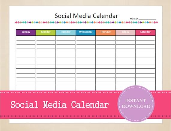 Items Similar To Social Media Calendar