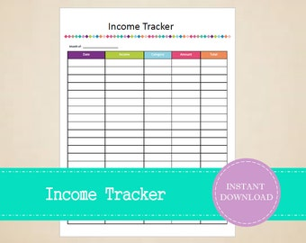 Income Tracker - Business Planner - Sales Tracker - Small Business Planner - Printable and Editable - INSTANT PDF DOWNLOAD