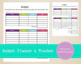 Budget Planner and Budget Tracker - Business Planner - Small Business Planner -  Printable and Editable - INSTANT PDF DOWNLOAD