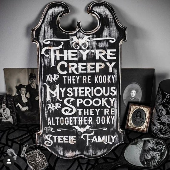 Halloween Decor Personalized Halloween Sign Addams Family Etsy