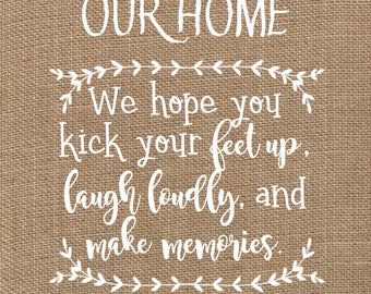 Wifi Sign Internet Sign Guest Sign Guest Room Sign Housewarming Gift Welcome Guests Sign Welcome To Our Home Rustic Burlap