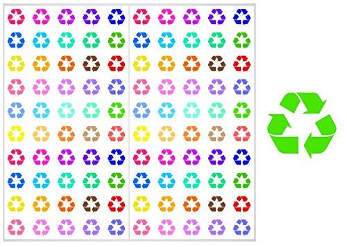 2 Sheets Of Recycle Planner Stickers St040free Shipping Etsy