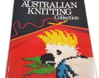 Vintage Australian Knitting Collection Book- Australia Sweater Jumper- Kangaroo Koala Pattern- Fosters Vegemite- Aussie Ladies Mens Kids